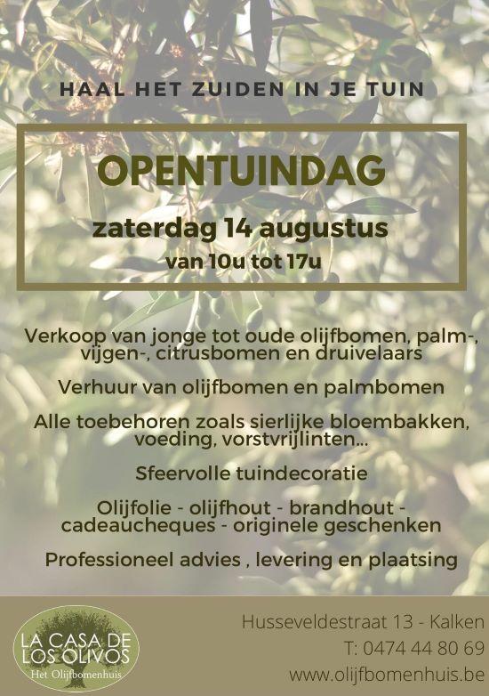 OPENTUINDAG 14 AUGUSTUS 2021